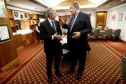 Sven-Göran Eriksson och Lennart Johansson.