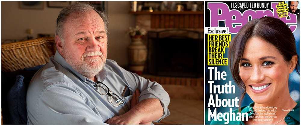 Thomas Markle anser att Meghans vänner gjort sig skyldiga till förtal. Nu vill han stämma de fem vännerna.