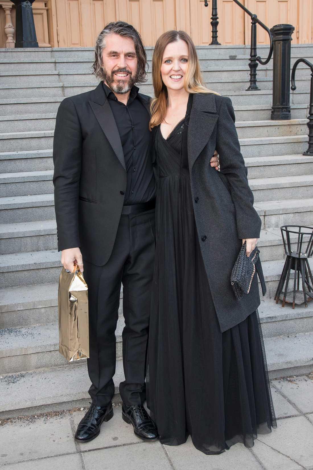 Peter Nordahl med hustrun Myrra Malmberg.