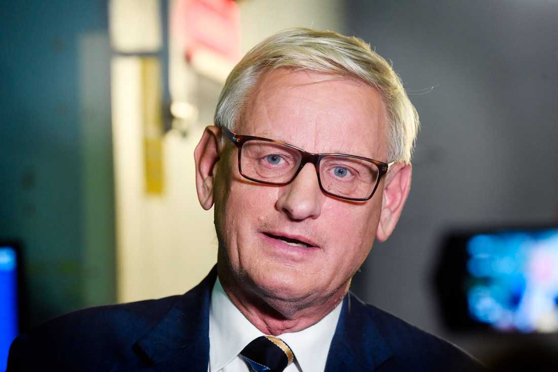 Carl Bildt, Moderaterna.