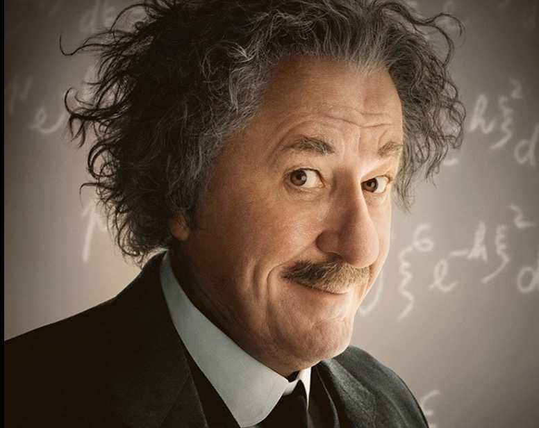 "Geoffrey Rush som Albert Einstein på National Geographics tv-kanal, i serien ""Genius""."