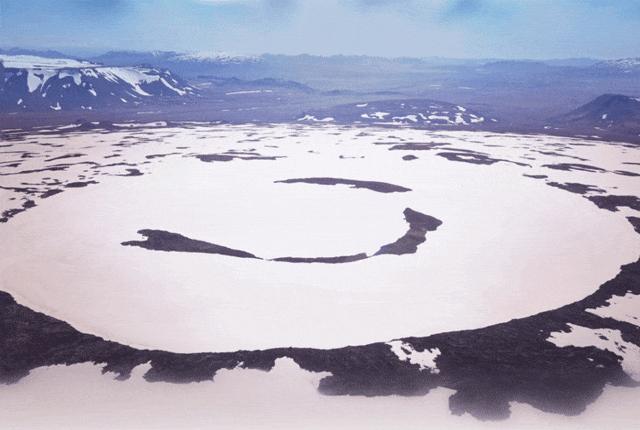 Okjökull-glaciären.