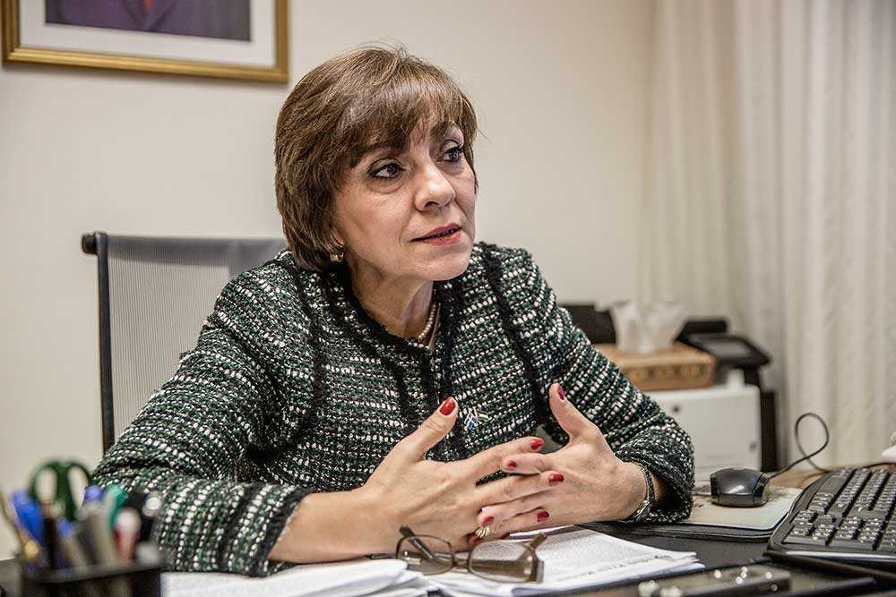 Palestinas ambassadör i Sverige, Hala Fariz.