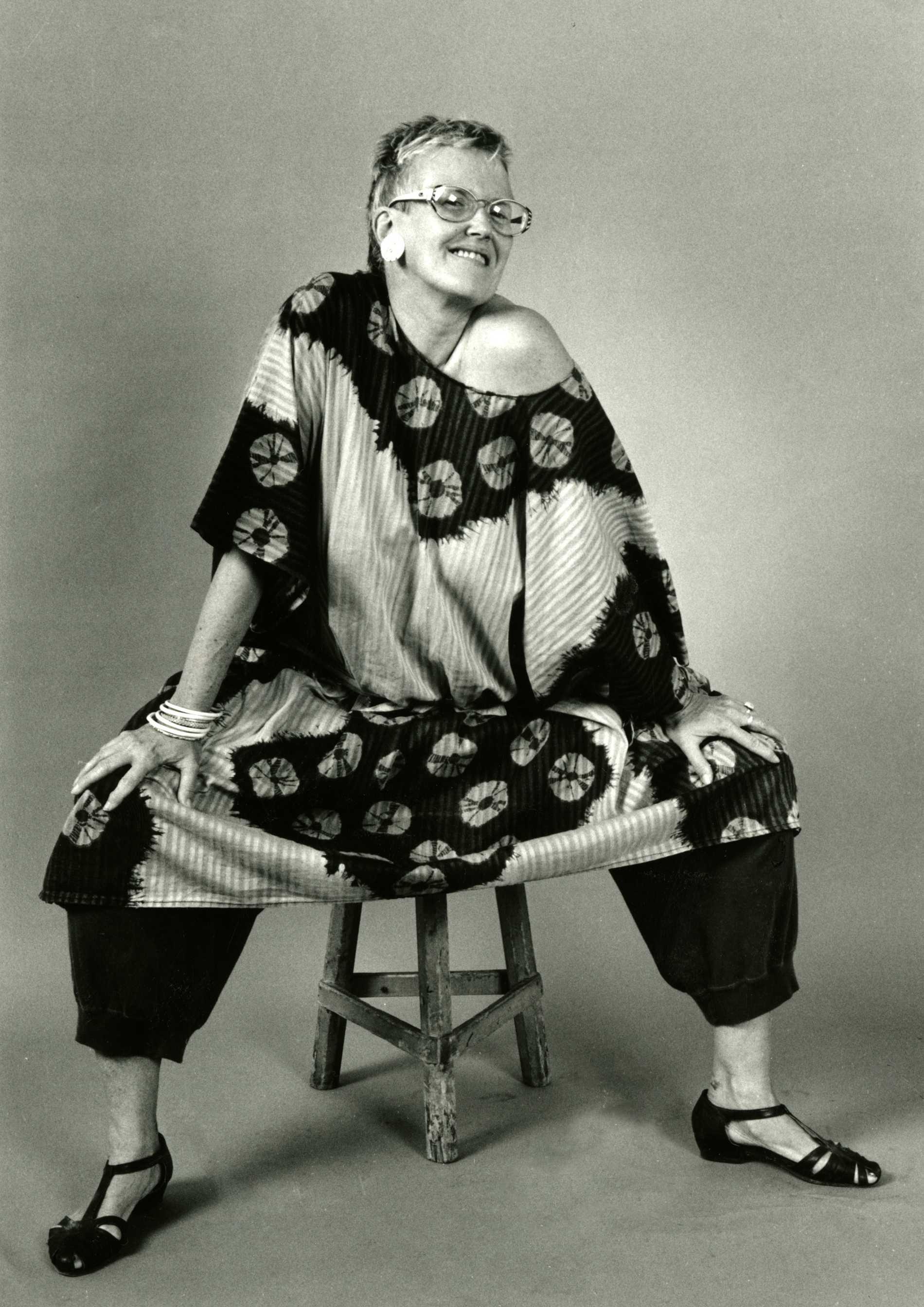 Författaren, illustratören och feministikonen Kerstin Thorvall avled 2010, 84 år gammal. Foto: Nicolai Jacobsen