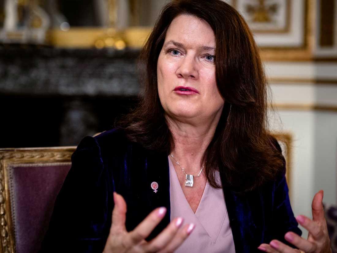 Utrikesminister Anne Linde.