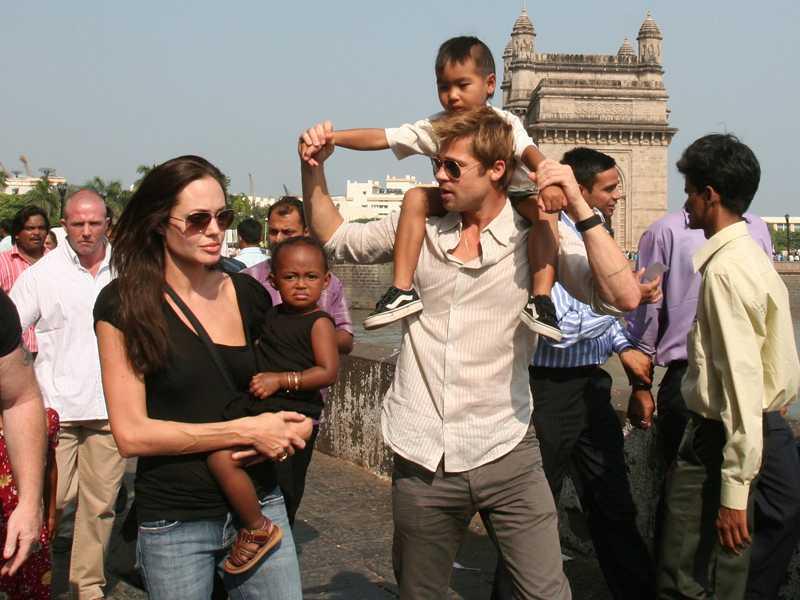 Familjen i Indien.