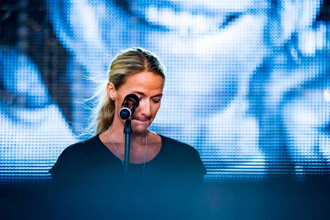 Kristin Kaspersen under sitt tal.