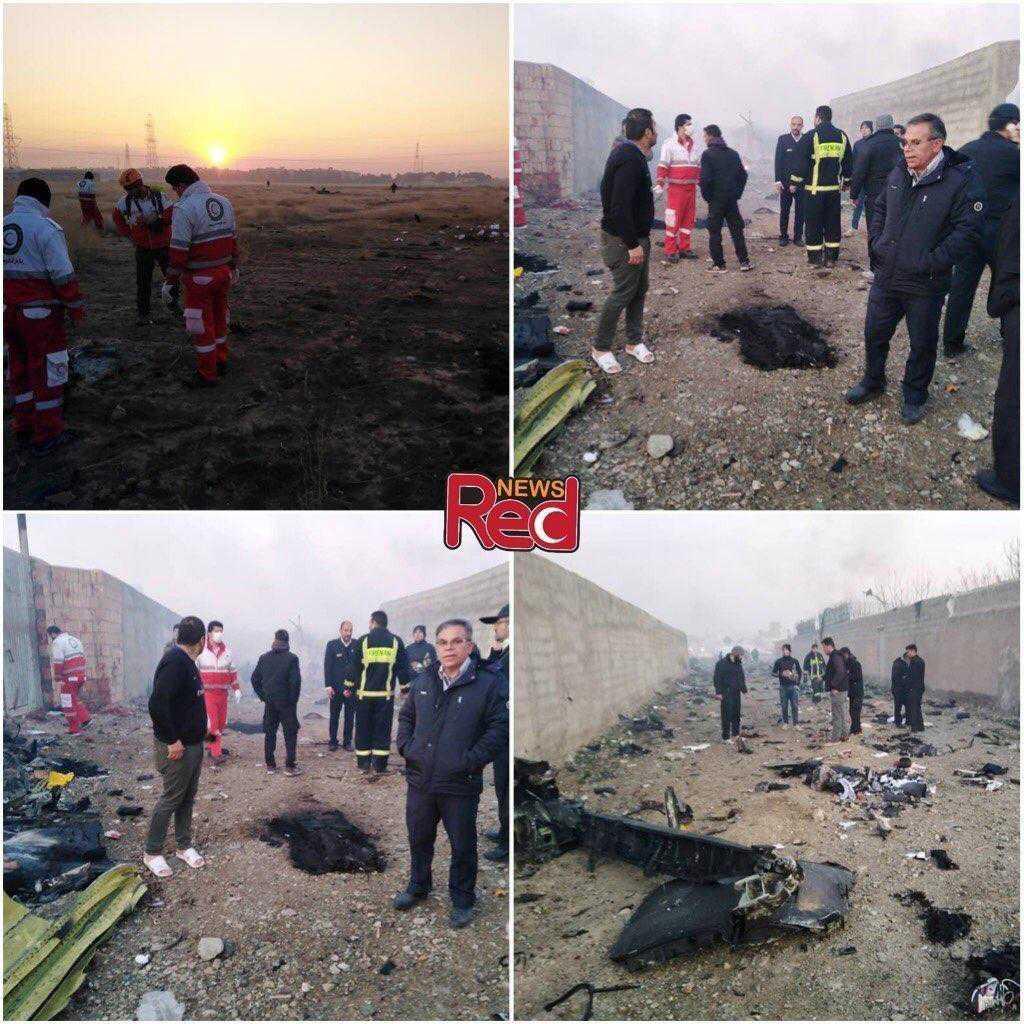 Bilder från lokal media från nedslagsplatsen.