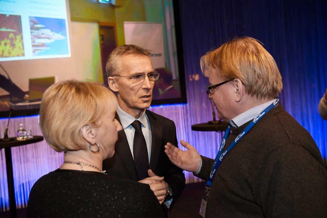 Margot Wallström, Jens Stoltenberg och Peter Hultqvist