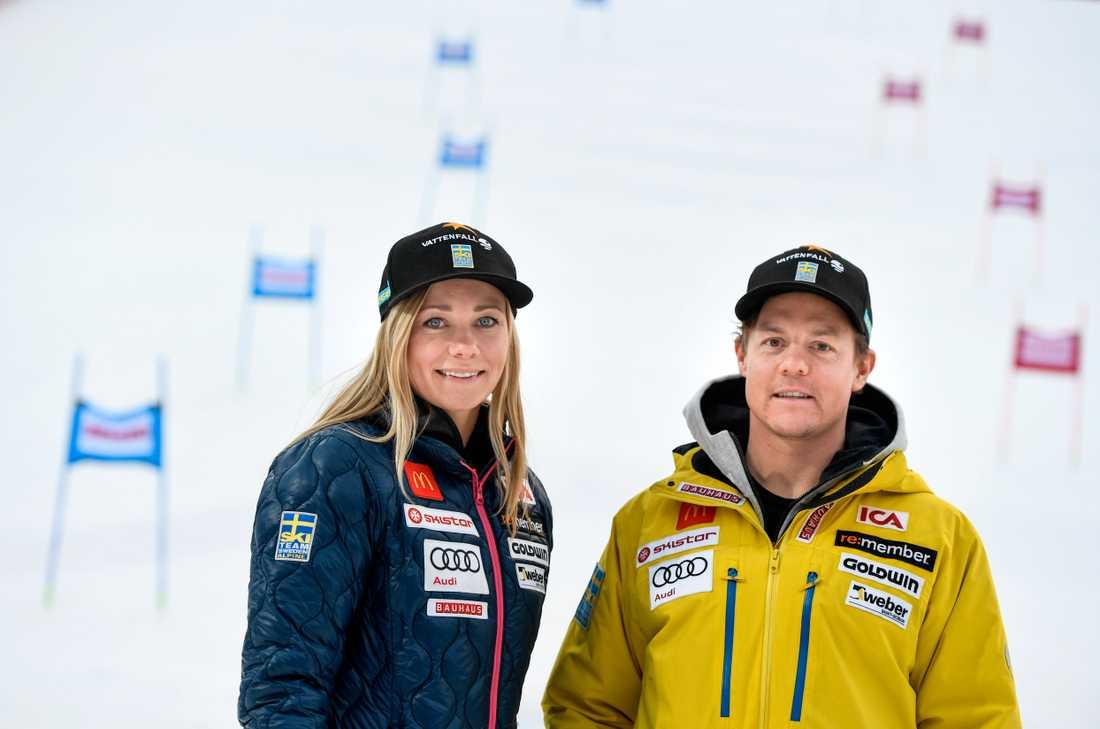 De gör succé i alpina VM 2017? Frida Hansdotter och Mattias Hargin hoppas.