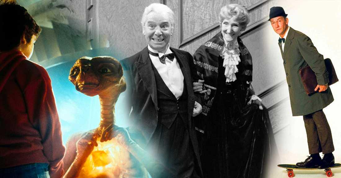 """På tv på nyårsafton: """"E.T."""", """"Grevinnan och betjänten"""" och """"Från och med herr Gunnar Papphammar""""."""
