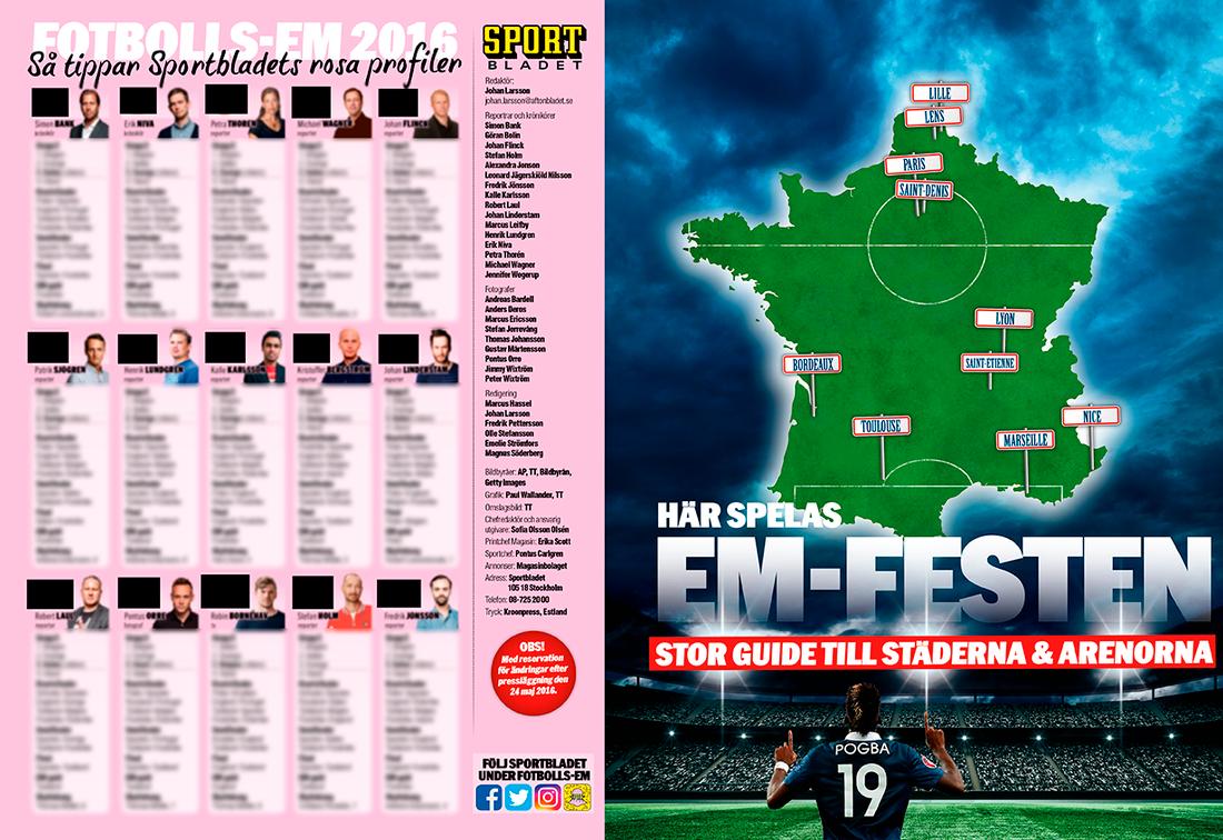 Så tippar Sportbladets alla experter – plus stor guide till arenor och värdstäder.