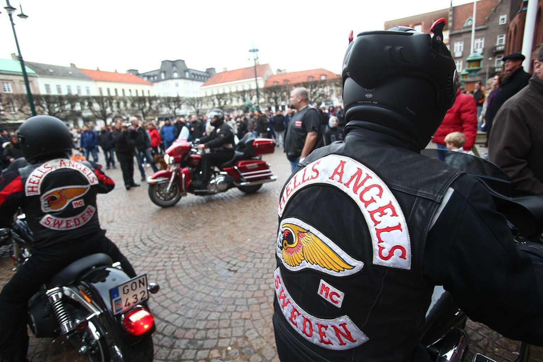 Hells Angels under en manifestation i Landskrona 2010.