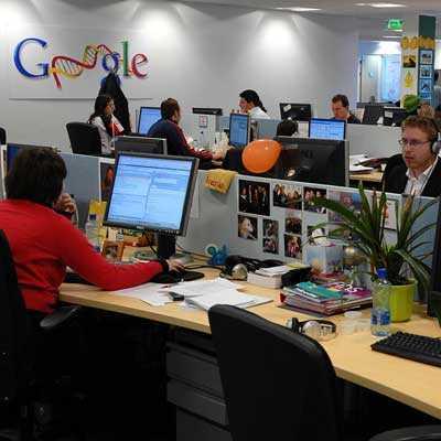 Ratar Windows-datorer Googles kontor i Dublin.