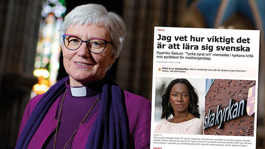 """Svenska kyrkans svar om språkkrav handlar inte om att """"tycka synd om"""". Vi förespråkar en bredare syn på språkinlärning och människors integration än det liggande förslaget. Replik från Antje Jackelén."""