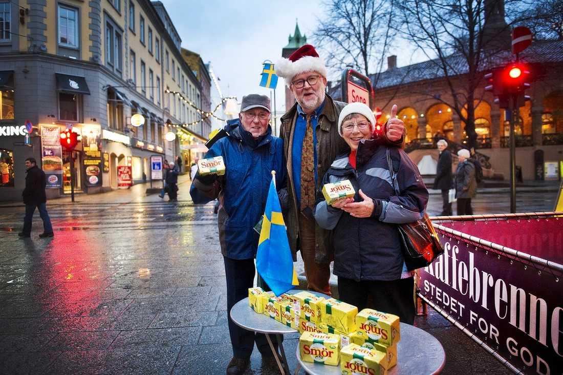 """Ornulf och Mai Ruud minns Svenskehjelpen under andra världskriget. """"Och nu kommer ni med smör. Sverige är fantastiskt"""", säger de."""