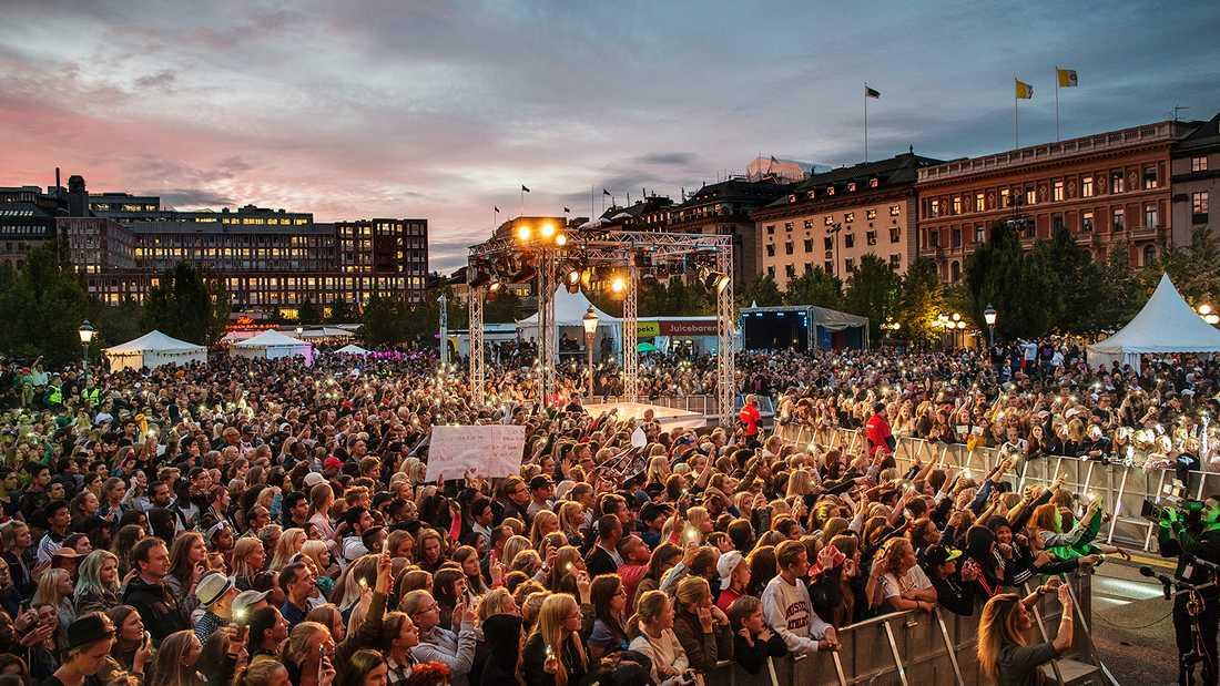 Rockbjörnen arrangeras i Kungsträdgården i centrala Stockholm.