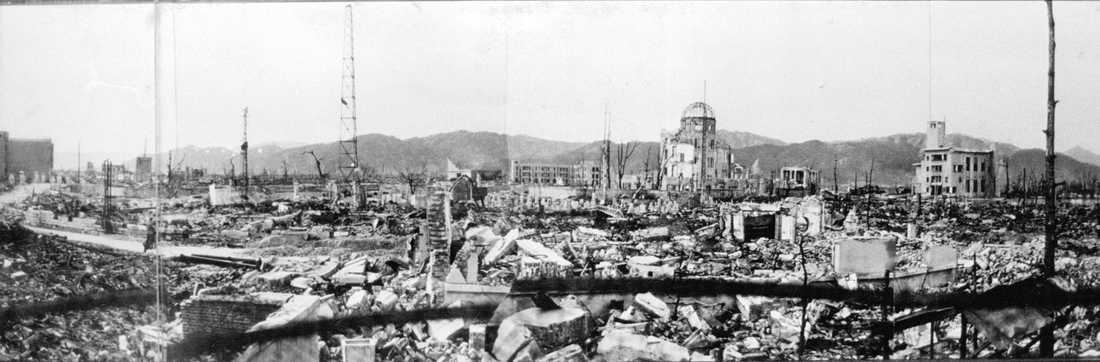 Hiroshima efter bomben. Foto: Arkivbild