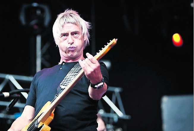 Paul Weller med sin pottfrisyr.