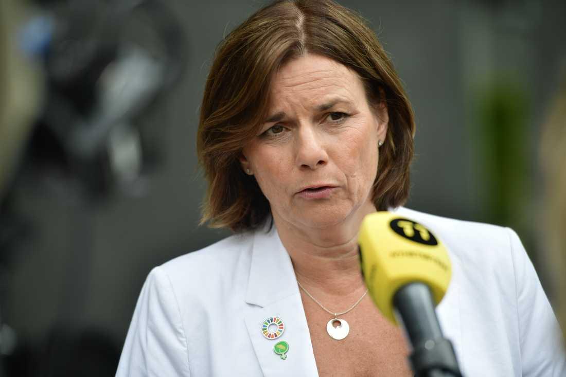 Miljöpartiets språkrör Isabella Lövin. Arkivbild.