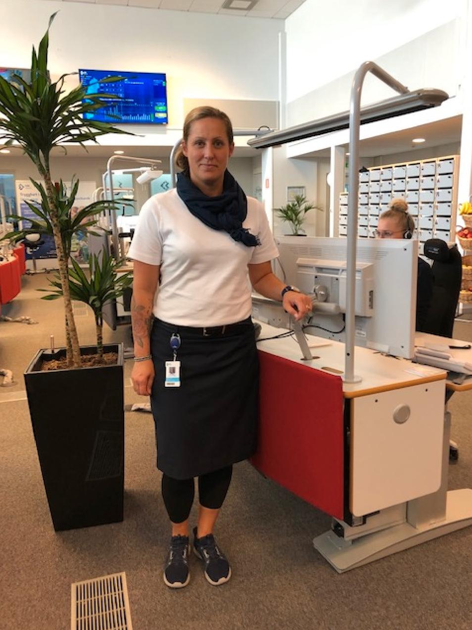 Sandra Öhnstedt, platschef SOS Alarm i Östersund.