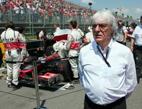 Bernie Ecclestone, här i Montreal, utreder möjligheterna för ett F1-lopp i New York.