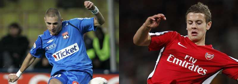 Talanger Lyons Karim Benzema och Arsenals Jack Wilshere rankas som två av världens främsta fotbollstalanger.