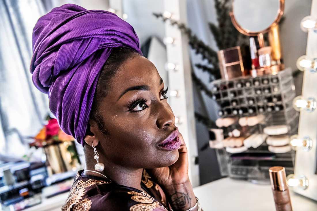 Lovette Jallow är känd som föreläsare och aktivist och grundaren av Black Vogue, ett forum om mode och skönhet för människor med mörkare hudton. Arkivbild.