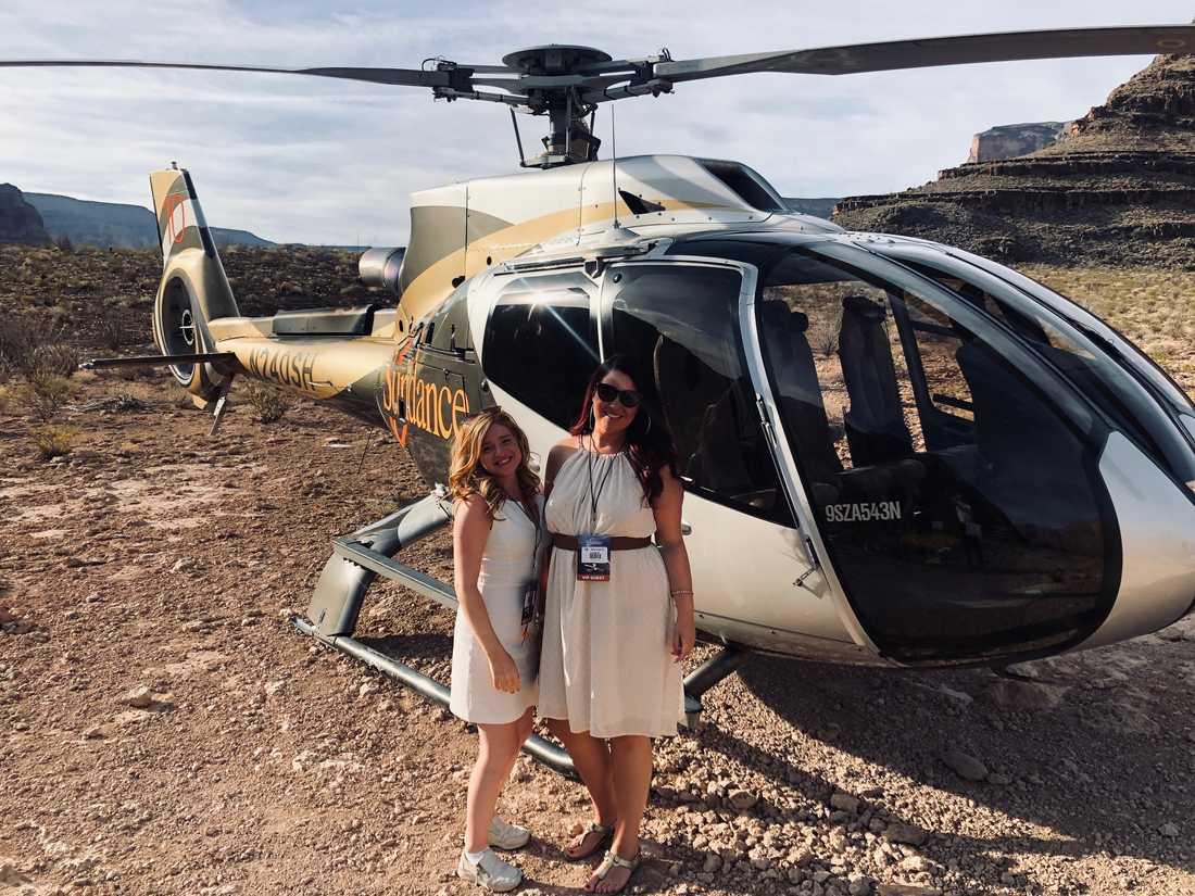 När Linda och Hanna upptäckte att de kunde åka helikopter till Grand Canyon var det ingen som tvekade.