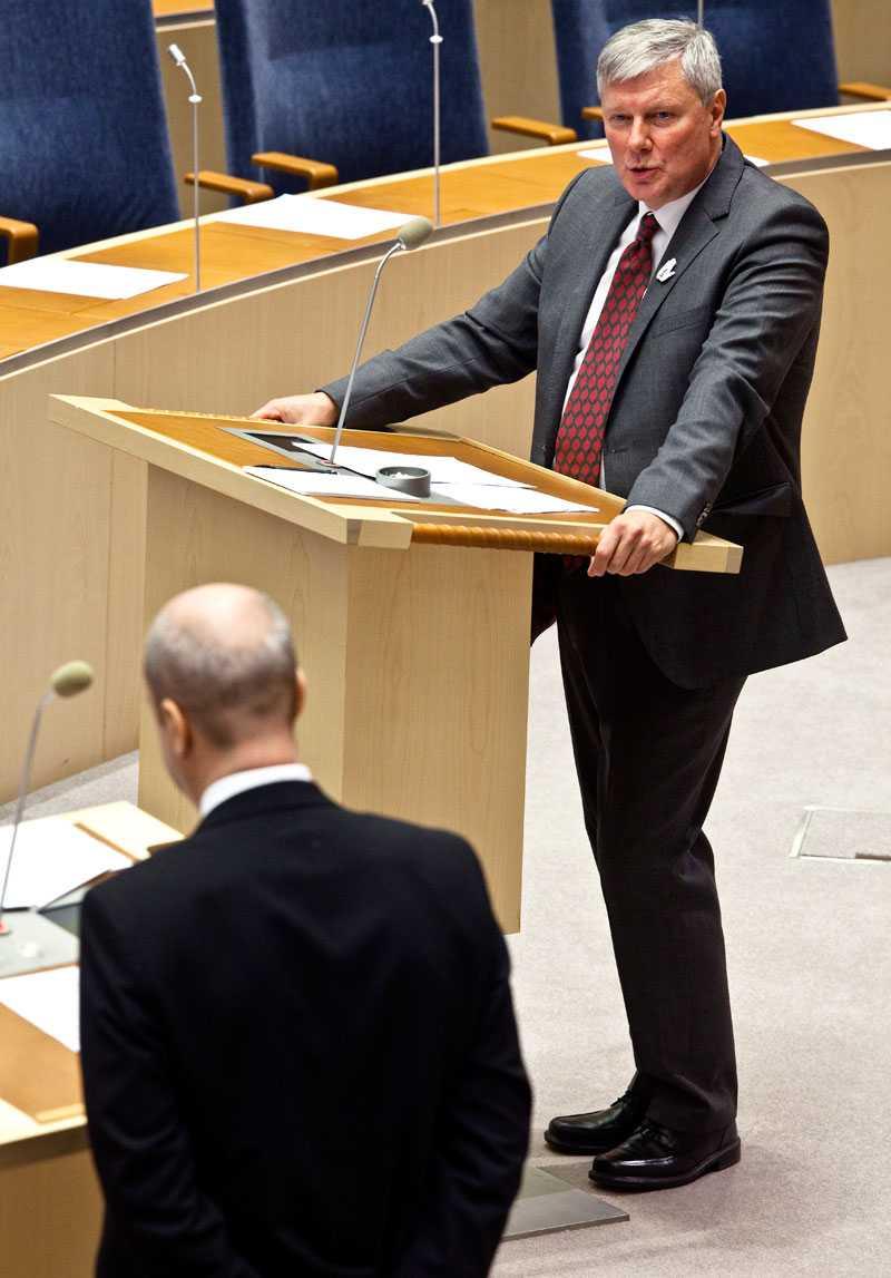 I talarstolen Ohly i riksdagen.