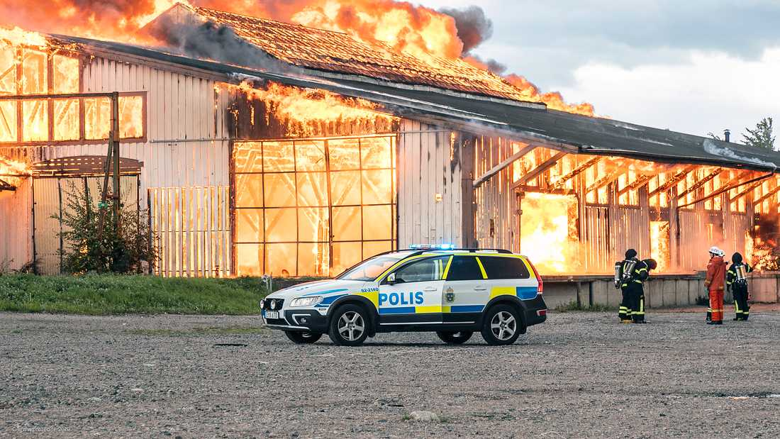 Lagerlokalen i Hässleholm totalförstördes.