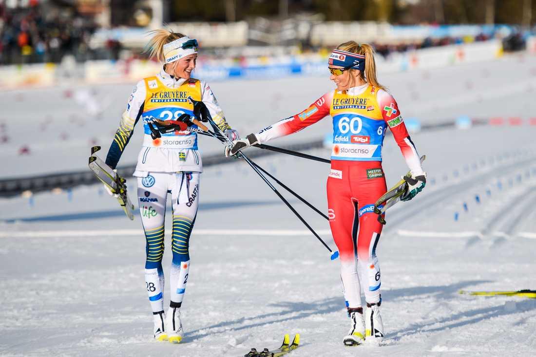 Frida Karlsson och Therese Johaug