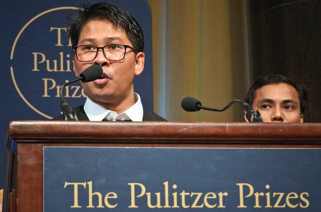 Reuters reportrar Wa Lone och Kyaw Soe Oo sattes i fängelse efter sin granskning av militärens roll i en attack mot rohingyer. I maj 2019 fick de ta emot Pulitzerpriset.