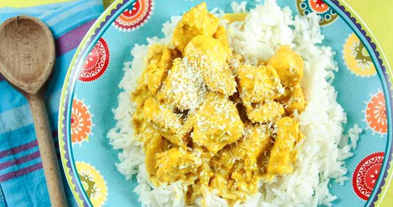 Kyckling med curry.