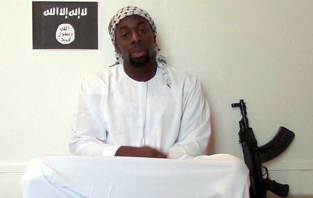 Amedy Coulibaly mördade fyra personer. Bild från video som släpptes efter att han dog.