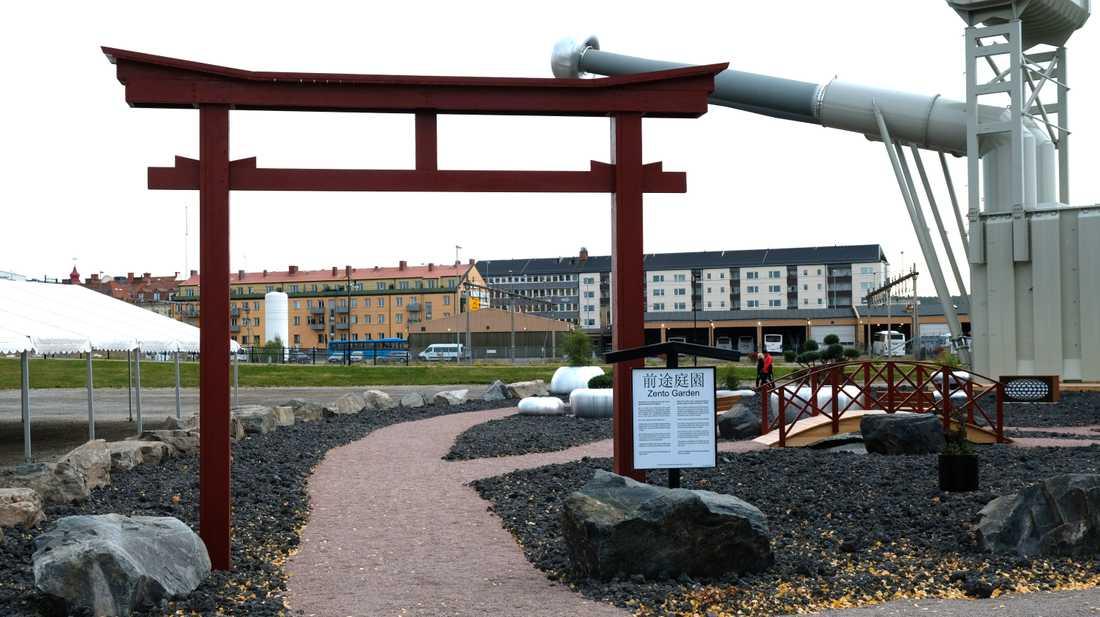 Japan är temat i Ludvika just nu. En nyanlagd liten park som ska vara inspirerad av zenbuddism.