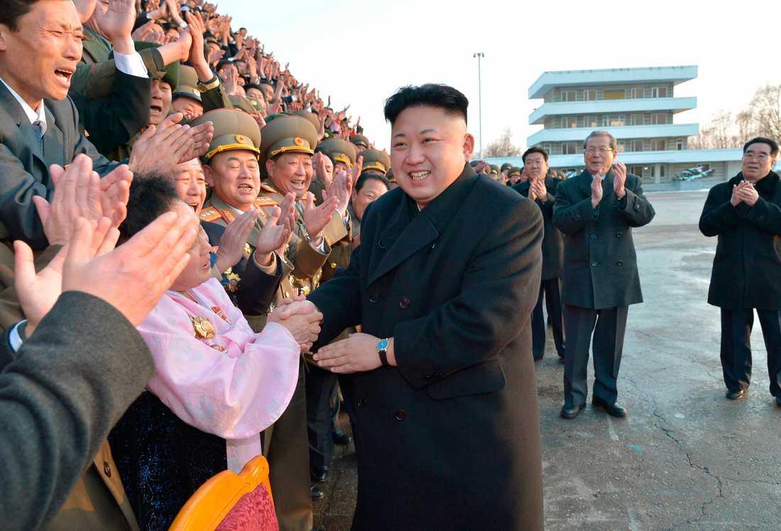 Ledaren Kim Jong-Un.