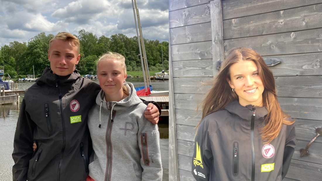 Algot, Ebba och Linn agerade snabbt när en båt exploderade i det uppländska tillhållet för segelbåtar.