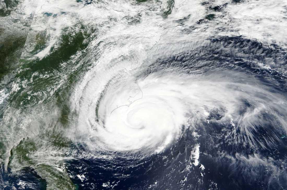 Satellitfoto av stormen Florence.