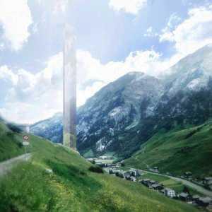 Alplandskapet ska avspeglas i det 381 meter höga tornet.