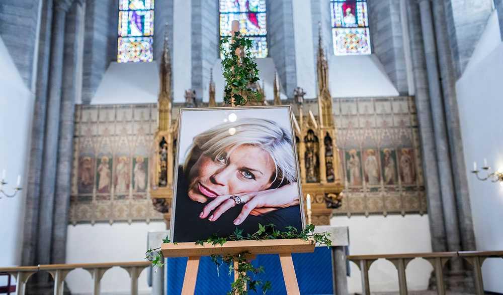 Josefin Nilsson, begravningen i Visby domkyrka.