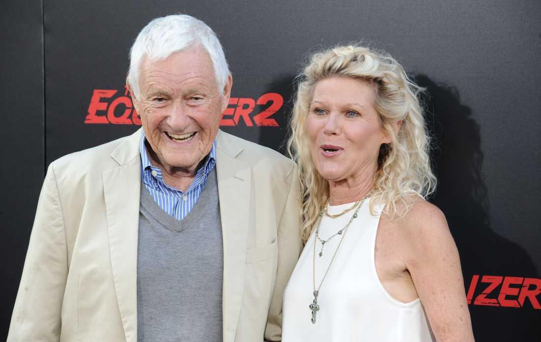 Orson Bean tillsammans med hustrun Alley Mills, skådespelerska.