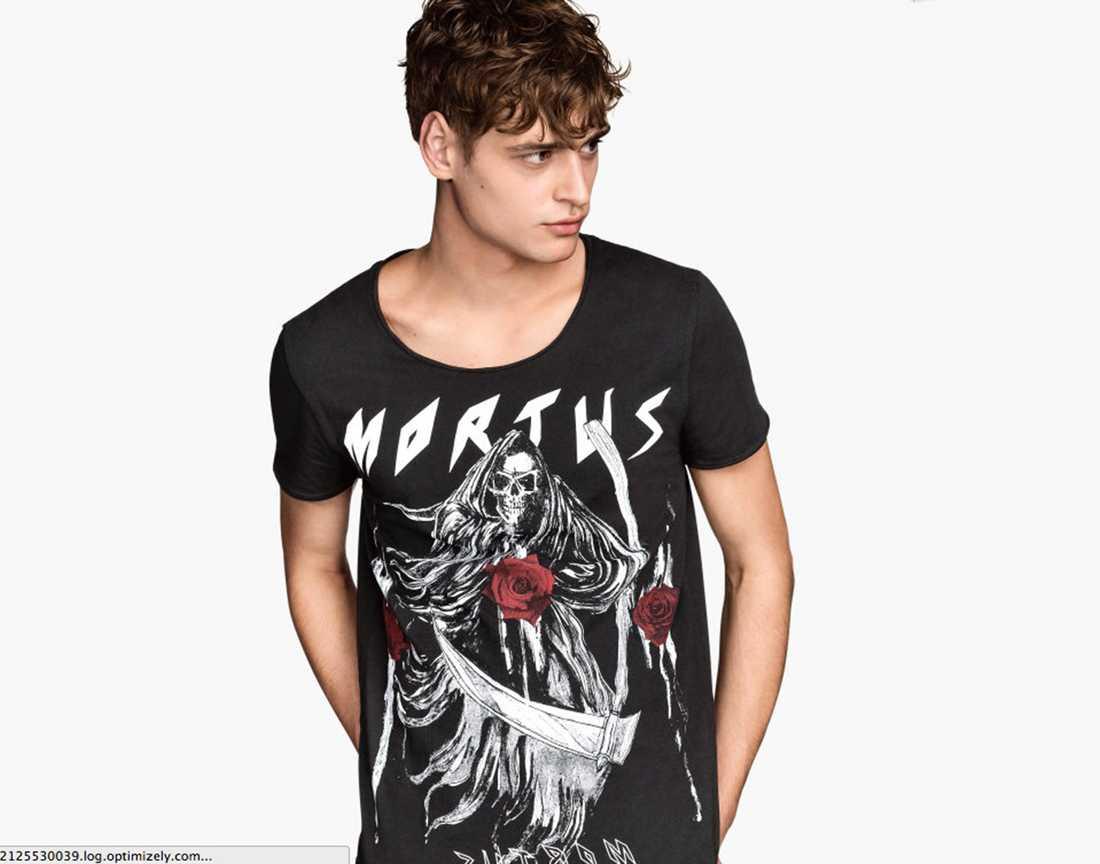 """""""Mortus"""" heter ett av banden som H&M:s designers uppfann för rocktröjorna."""