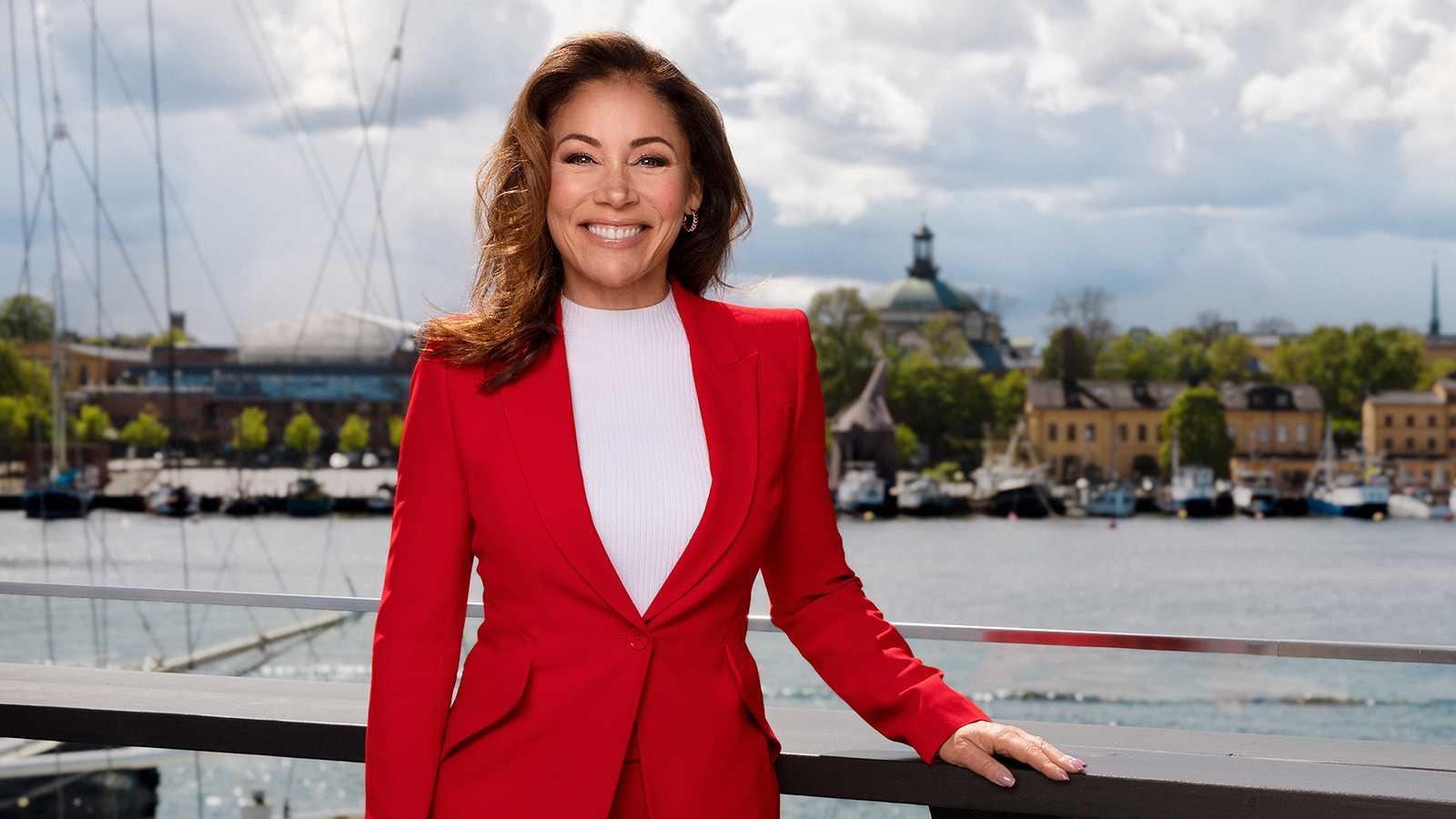 """Tilde de Paula Eby sänder sitt nya pratprogram """"Tilde"""" från Djurgården i Stockholm."""