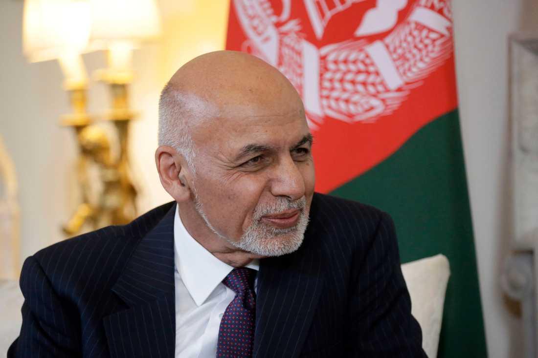 Afghanistans president Ashraf Ghani och landets regering skickar en delegation till Doha i Qatar för inledande och trevande kontaktsamtal med talibaner. Arkivbild.