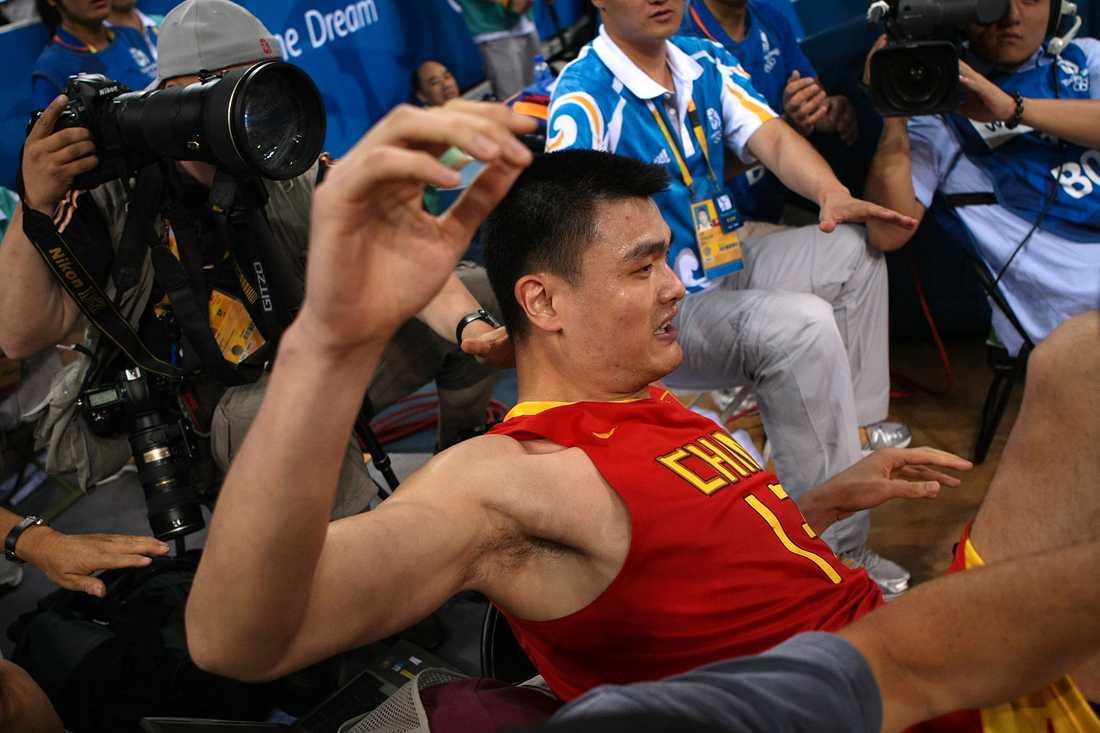 Yao Ming och Kina på fall.