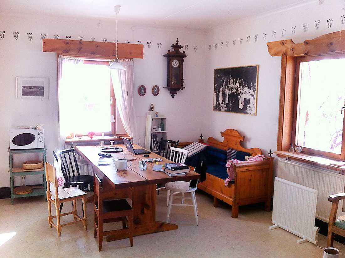 Köket i stora huset ser ut som när Sara Lidman bodde där.