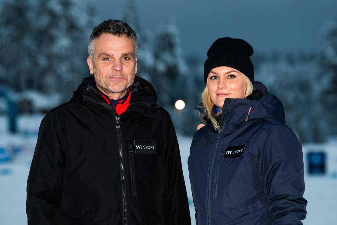 Anders Blomquist och Moa Jörnmark.