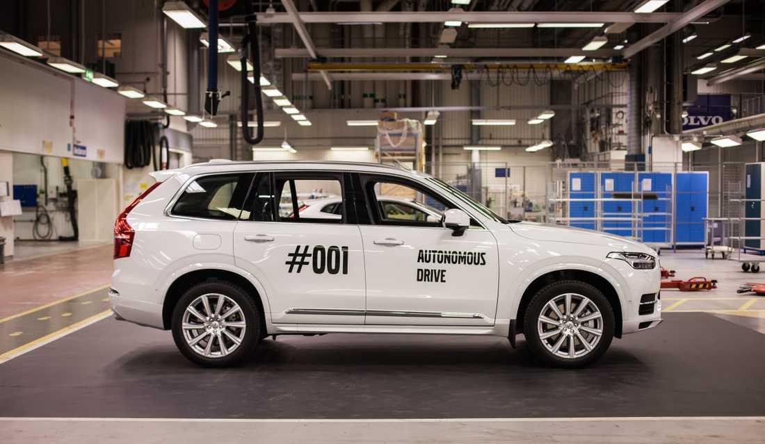 Den första Volvon till ett projekt med självkörande bilar i Göteborg tillverkades 2016. Nu är målet att en Volvo av tre som säljs ska vara självkörande, från omkring år 2025. Arkivbild.