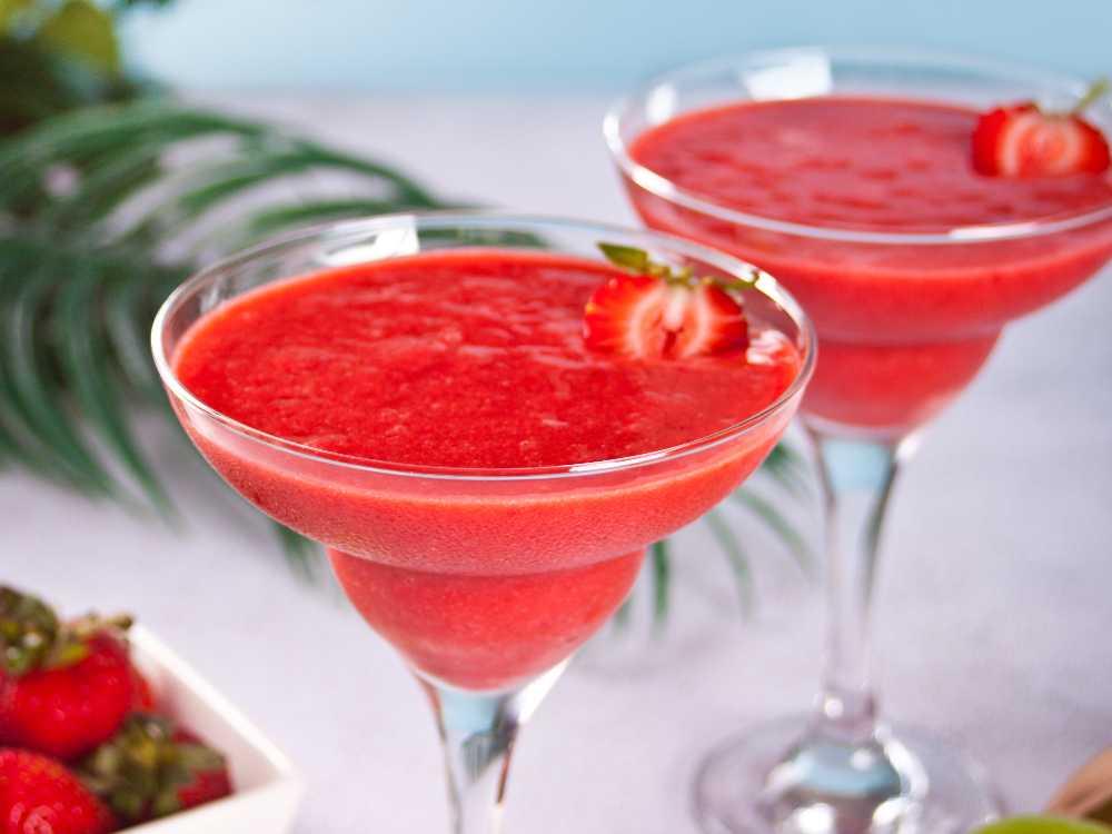 Alkoholfri Strawberry daiquiri